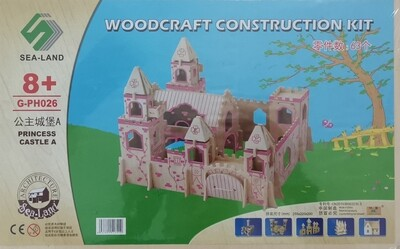 DIY 3D Wooden Puzzle Building Kit  - Princess Castle A (4 Full Sheets)