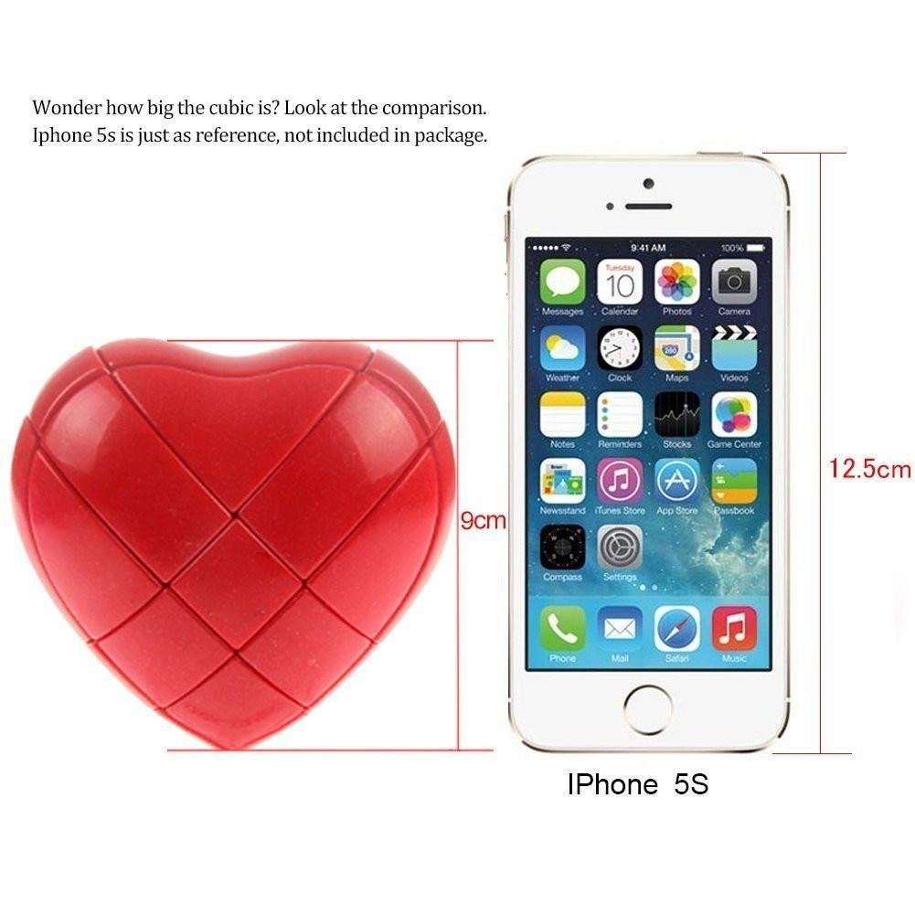 Yongjun Love Heart 3x3x3 Brain Teaser Speed Cube Puzzle