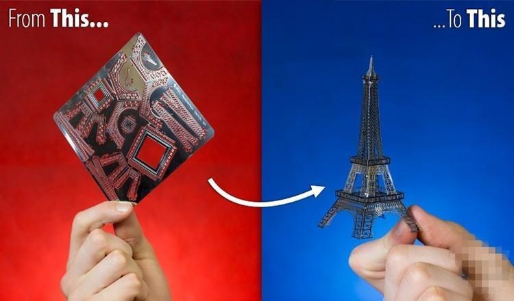 Metallic Nano Puzzle DIY 3D Eiffel Tower Laser Cut Models