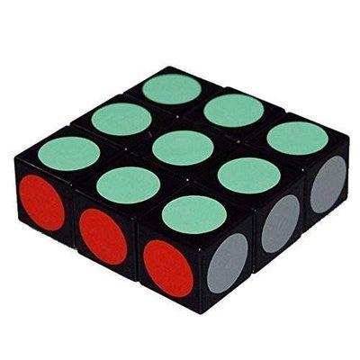 LanLan Super Floppy Cube, Black, 1 x 3 x 3-Brain Teaser Stickers Speed Cube Puzzle