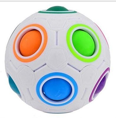 Rainbow Ball Football Magic Speed Cube Puzzle Cubes Educational Toy Special Toy