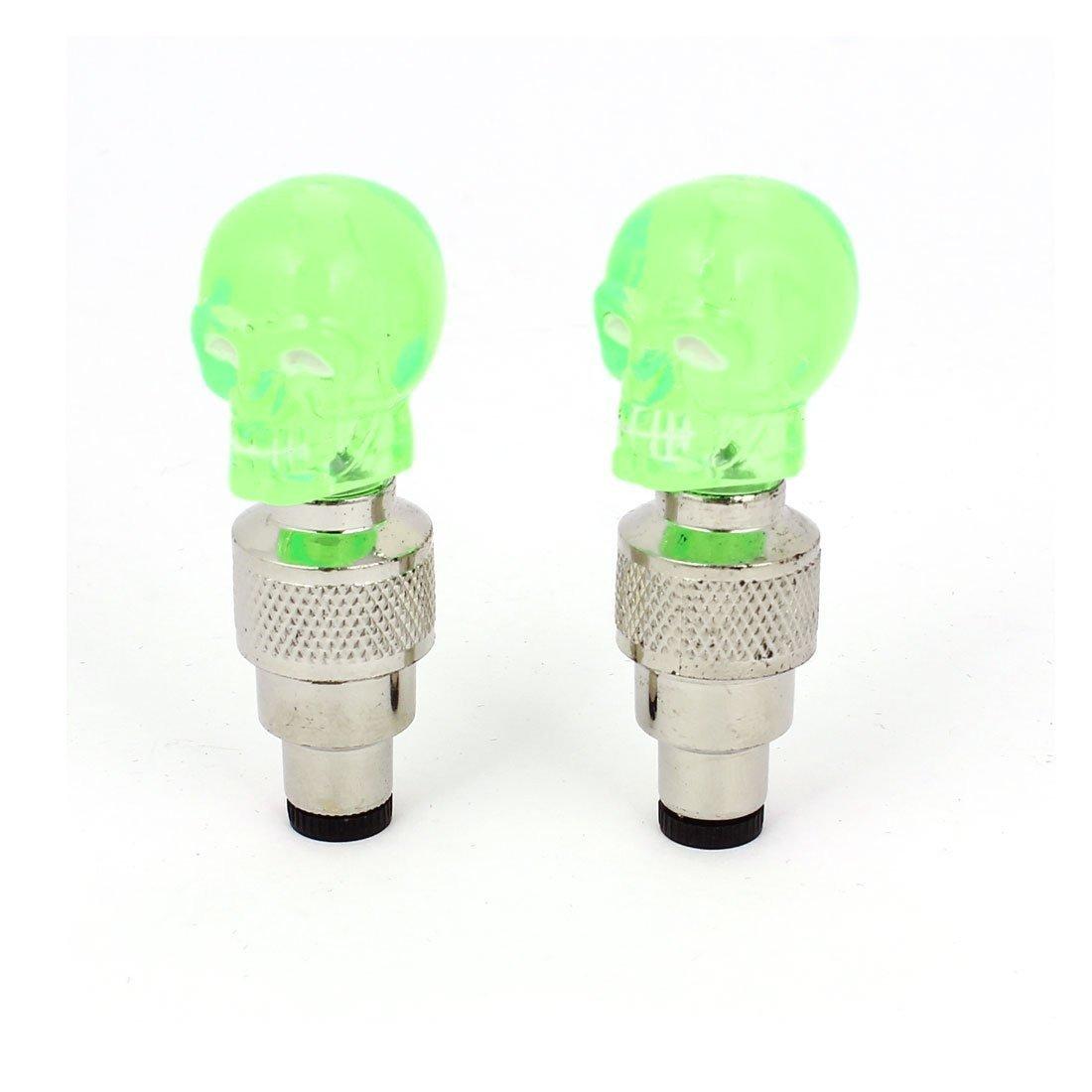LED Wheel Light Green Head (2 Pcs)