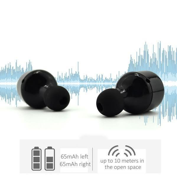True Wireless Bluetooth Headset Earbuds With V4.2+EDR With Mic