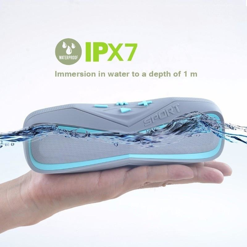 Waterproof IPX7 Sport Portable Bluetooth Outdoor Speaker with Mic