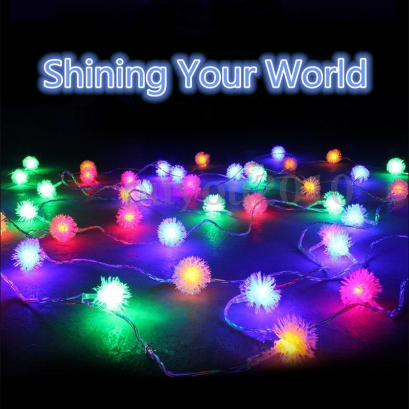 Snow Pompon String Light - Xmas, Garden, Party Decorate Lights (2 Pcs)