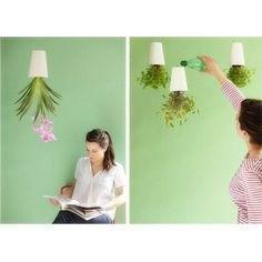 Inverted Sky Garden Hanging Pot Upside Down Plant Flowerpot Ceramic
