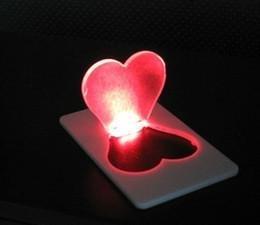 Mini LED Credit Card Light Portable Pocket Christmas Xmas Tree Love Light Bulb Lamp