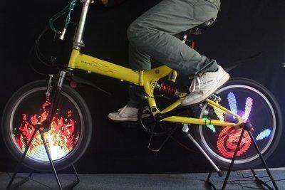 96 LED Bicycle Wheel Light - Slide Show on Running Wheels
