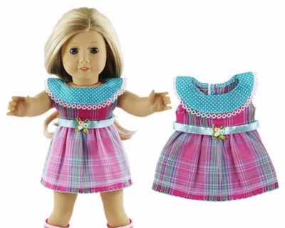 Doll Party Dress Clothes Outfits Pajamas Girls-18 inch - American Girl Dress