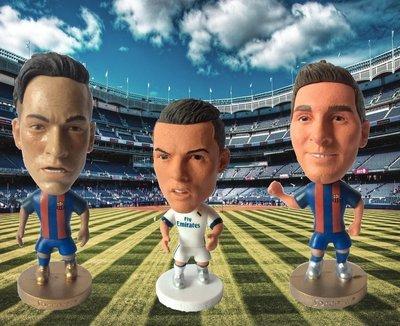 "2.5"" Miniature Football Player Figures Messi Ronaldo Neymar Action Dolls Figurine"
