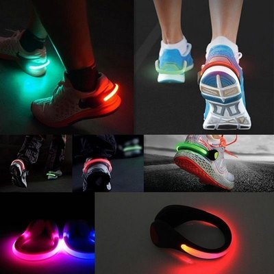 LED Shoe Clips - 1 Pair - Safety Light for Running, Cycling, Walking, Jogging