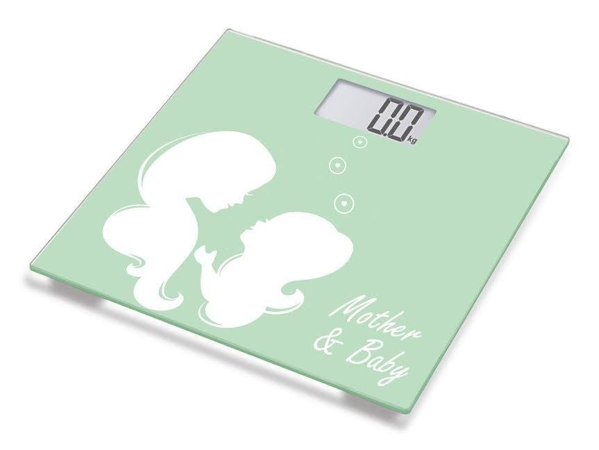 Digital Mother and Baby Bathroom Scale, Step-on Technology and LCD Display, 150Kg Capacity