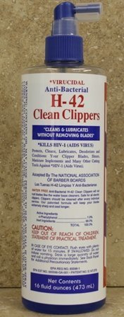 Virucidal Anti-Bacterial H-42 Clean Clippers® 16 oz Pump Spray