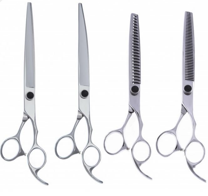 """4 Piece Set 440c (8"""" Straight & Curved, 24 Tooth, & 46 Tooth)"""