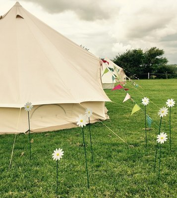 Into the Wild Ultra Glamper - Furnished  bell tent (includes £75.00 refundable deposit)