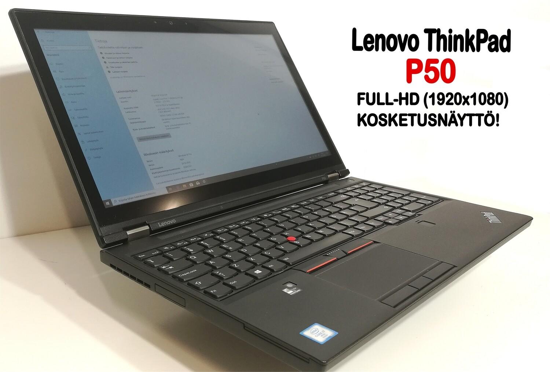 """Lenovo P50 Core i7,  Nvidia Quadro M2000M näytönohjaimella ja 15,6"""" FullHD-kosketusnäytöllä! AMMATTILAISELLE!"""
