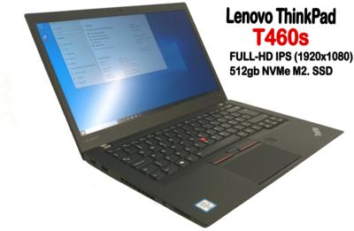 Lenovo T460s Ultrabook Core i5-6300U / Full-HD  IPS-näytöllä ja huippunopealla 512gb  NVMe M2. SSD:llä! (A)
