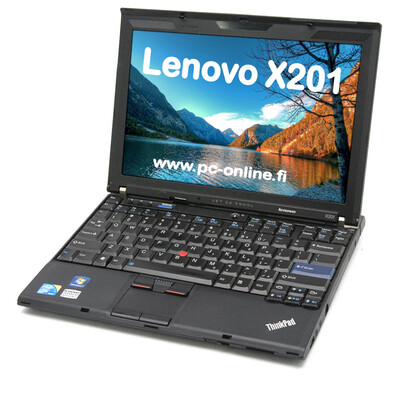 Lenovo X201 Core i5. Kevyt ja pieni, mutta silti tehokas.