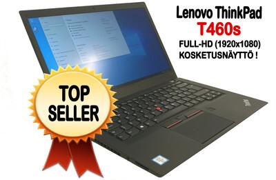 Lenovo T460s Ultrabook Core i5-6300U / Full-HD  IPS- kosketusnäytöllä ja huippunopealla NVMe M2. SSD:llä! (A- / B)