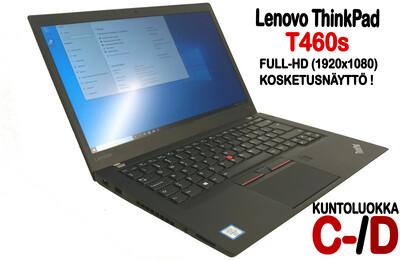 Lenovo T460s Ultrabook Core i5-6300U / Full-HD  IPS- kosketusnäytöllä ja huippunopealla NVMe M2. SSD:llä! (C- /D)