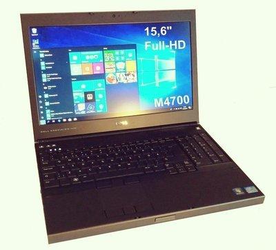 """Dell Precision M4700 Core i7 3rd gen/ 32gb keskusmuistilla!. Erillinen Nvidia Quadro näytönohjain. 15,6"""" Full HD-näyttö ja 256gb SSD"""