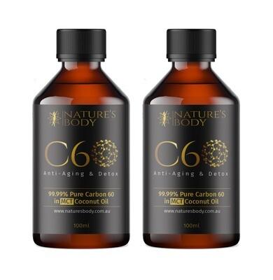 Carbon 60 in Premium MCT Coconut Oil - 100ml X 2