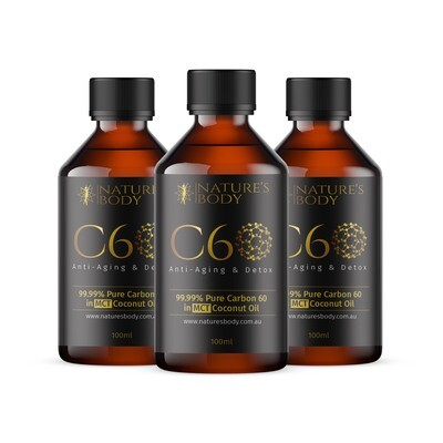 SPECIAL Carbon 60 in Premium MCT Coconut Oil - 100ml X 3 (SAVE $32)