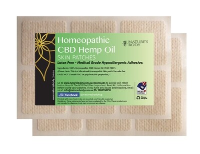 CBD Hemp Oil Skin Patch (THC Free) (NEW Improved Gel Patches - Each Patch Lasts 7 Days)