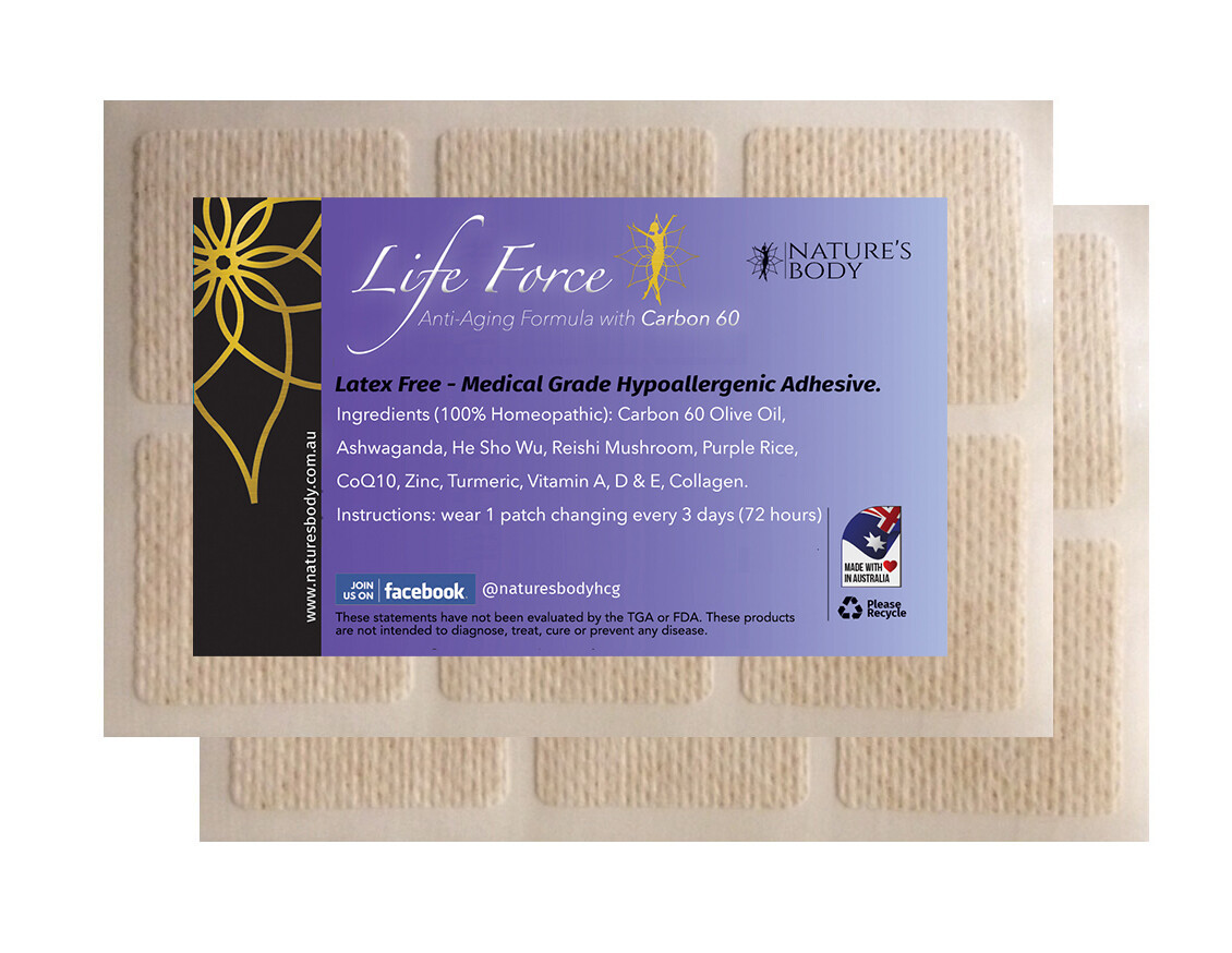 LIFE FORCE - Anti-Aging Skin Patch (NEW Improved Gel Patches!)