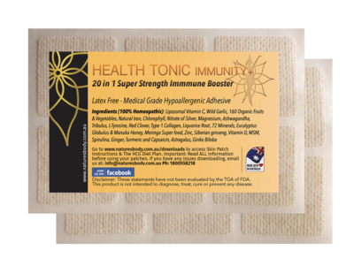 HEALTH TONIC Immunity+ SUPER STRENGTH 20 in 1 Skin Patch