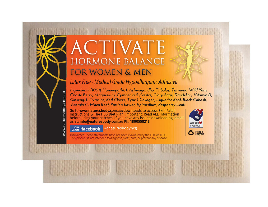 NEW Activate HORMONE BALANCE - Women & Men - Natural HRT Patch