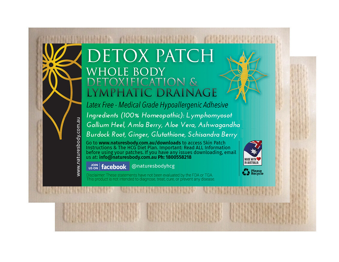 The DETOX Patch - Detoxification & Lymphatic Drainage (NEW Improved Gel Patches!)
