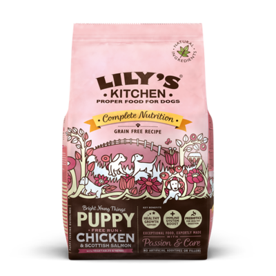 Lily's Kitchen Chicken & Salmon Dry Food for Puppies