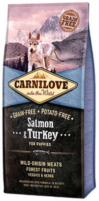 Carnilove Salmon & Turkey for Puppies 1.5KG