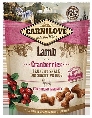 Carnilove Lamb with Cranberries Dog Treats 200g