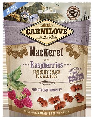 Carnilove Mackerel with Raspberries Dog Treats 200g