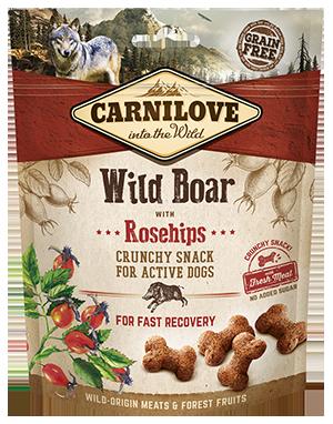 Carnilove Wild Boar with Rosehips Dog Treats 200g