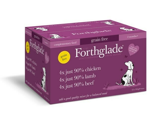 Forthglade Just Chicken, Lamb & Beef Multipack (12)