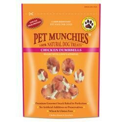 Pet Munchies 100% Natural Real Chicken & Rawhide Dumbells 80g