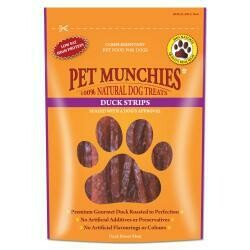 Pet Munchies 100% Natural Duck Strips 90g