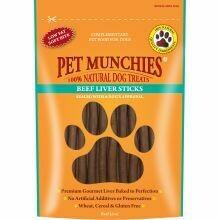 Pet Munchies 100% Natural Beef Liver Sticks 90g