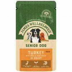 James Wellbeloved Senior Turkey Pouch 150g