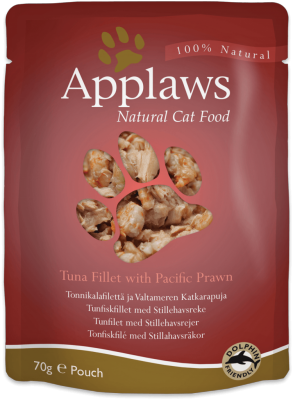 Applaws Tuna with Pacific Prawn in Broth Pouch 70g