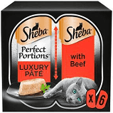 Sheba Perfect Portions Beef Pate 6 x 37.5g