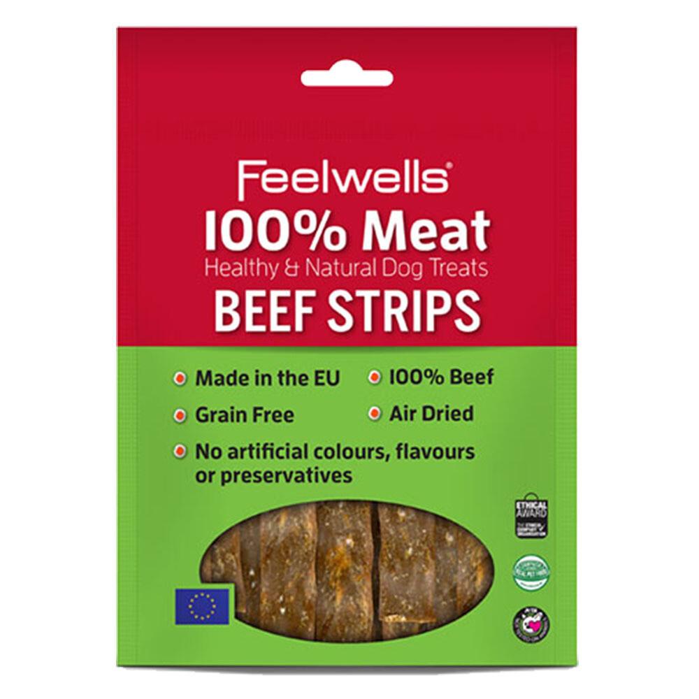 Feelwells 100% Beef Strips 100g