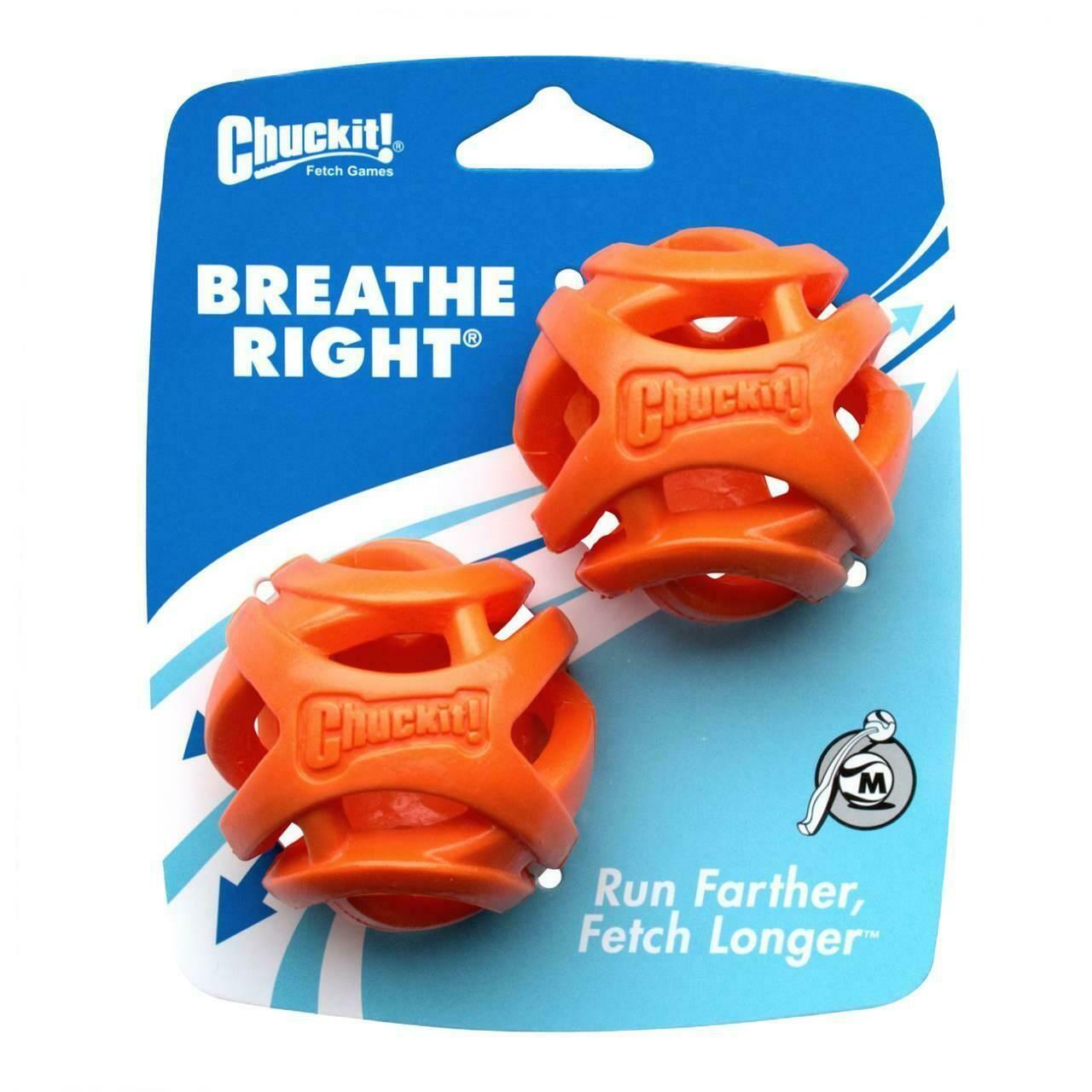 Chuckit Breathe Right Fetch Ball Medium (2Pk)