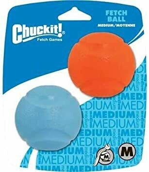 Chuckit Fetch Ball 2 Pack Medium 6.5cm