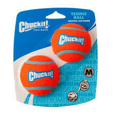 Chuckit Tennis Ball 2 Pack Medium 6.5cm