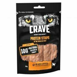 Crave Protein Strips Turkey & Chicken 55g