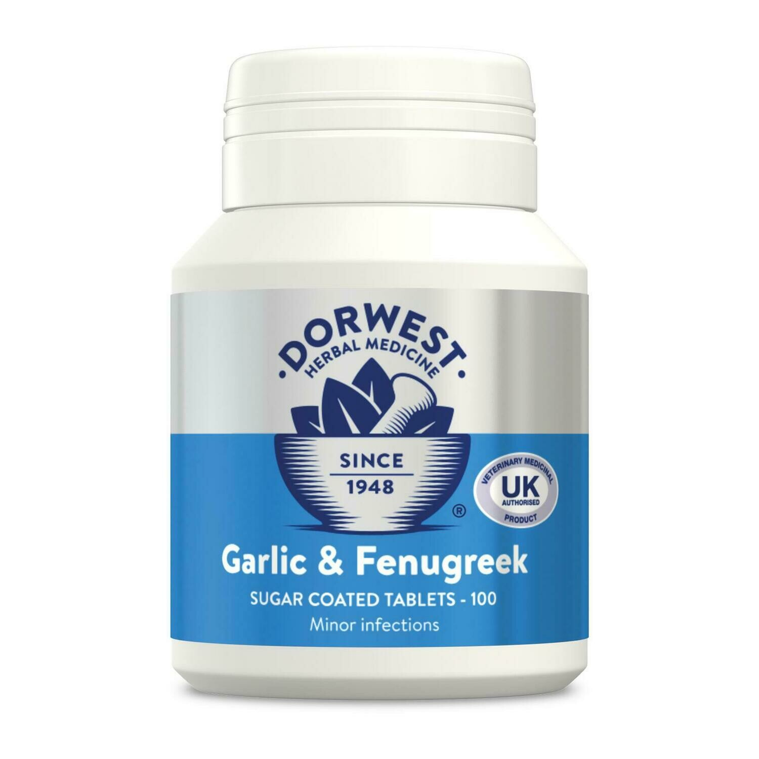 Dorwest Herbs Garlic & Fenugreek Tablets For Dogs And Cats (100)